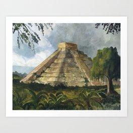Mayan Pyramid Art Print