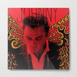 Wings of Fire Johnny Cash Metal Print
