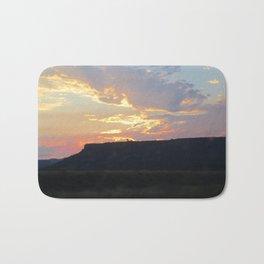 Sunset behind Table Rock in Oregon Bath Mat