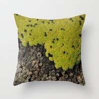 peru Throw Pillows featuring 5000m // Peru by Memento Mori Studio