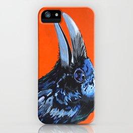 Orange Crow iPhone Case