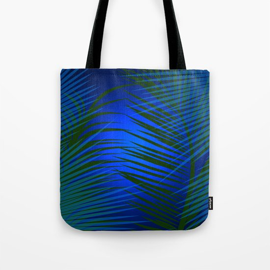 Tropical Palm in Dark Tote Bag