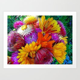 Fall Bouquet for Peace by Mandy Ramsey Art Print