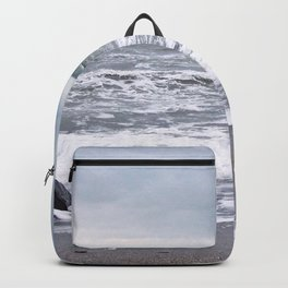 Cloudy Day on the Beach Backpack