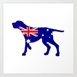 Australian Flag - Redbone Coonhound Art Print