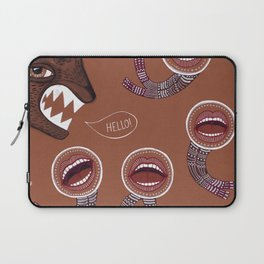 surreal hello with mouth people Laptop Sleeve