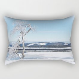 Ice Tree Rectangular Pillow