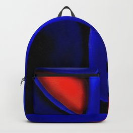 Abstraction in Lapis and Red Backpack