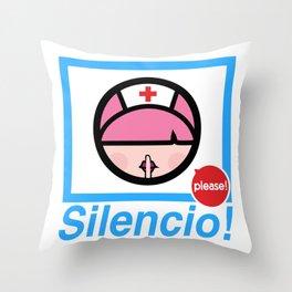 Silencio Please! Throw Pillow