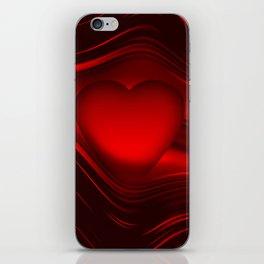 Red heart 16 iPhone Skin