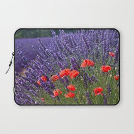 Poppies and Lavender Laptop Sleeve