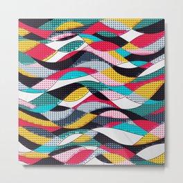 Pop Art Waves Metal Print