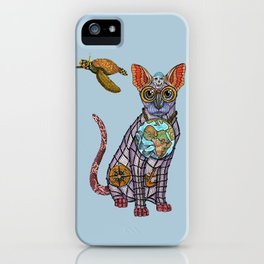 Sea Cat with friends iPhone Case