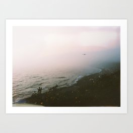 misty coast Art Print