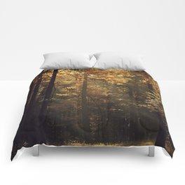 Autumn light - vertical Comforters