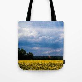 Concept nature : The yellow field Tote Bag