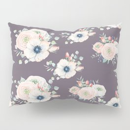 Dog Rose Pattern  Mauve Pillow Sham