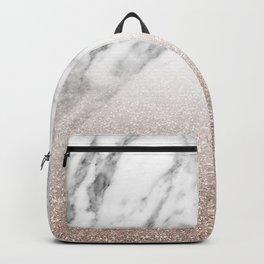Marble sparkle rose gold Backpack