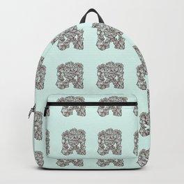 Ancient Golem Mythical Mythology Color Pattern Backpack