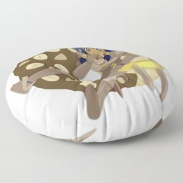 Donuts - Chocolate Frosted Cruller with Peanuts Floor Pillow