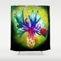 ladybug Shower Curtains featuring ladybug by haroulita