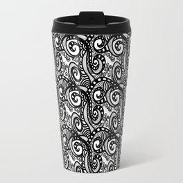 Project 389 | Black and White Swirls | Zentangle Travel Mug