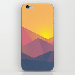 Sunset Mountains Polygons iPhone Skin