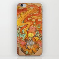 naruto iPhone & iPod Skins featuring Woodblock Naruto by Sempaiko