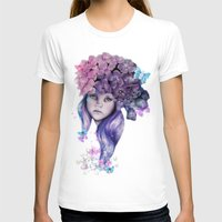 hydrangea T-shirts featuring Hydrangea by Sheena Pike Art & Illustration