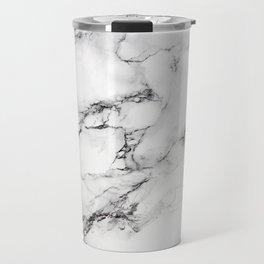 Greyish White Marble Travel Mug