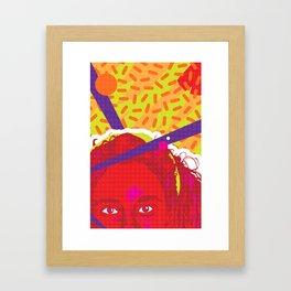 JESSIE :: Memphis Design :: Saved By the Bell Series Framed Art Print