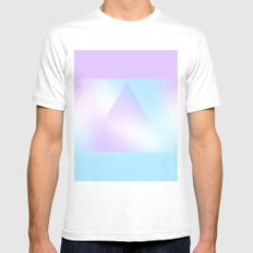 Geometric Dream MEDIUM White Mens Fitted Tee