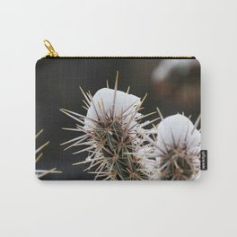 Cactus with Snow Carry-All Pouch
