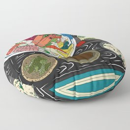 Japanese Seafood Chirashi Platter Floor Pillow