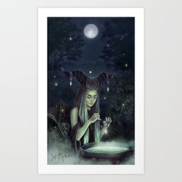 The Moon Witch Art Print