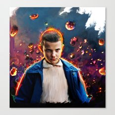 stranger things eleven  Canvas Print