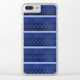 Traditional Greek Meander Pattern Clear iPhone Case