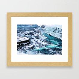 Gulfoss Waterfall Iceland Framed Art Print