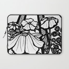 Black and White Flowers In The Sun Laptop Sleeve