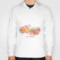 las vegas Hoodies featuring Las Vegas Nevada Skyline  by jbjart