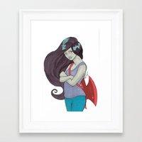 marceline Framed Art Prints featuring Marceline by MichelleLynne