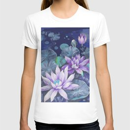 blue lake lilypads T-shirt