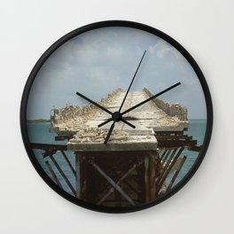Bridge to Nowhere (Florida Keys) bridge ruins of old Florida A1A by Jeanpaul Ferro Wall Clock