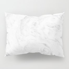 Light grey marble Pillow Sham