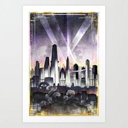 Art Deco Metropolis Art Print