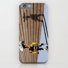 OUUUPS! - wooden wall version iPhone 6s Slim Case