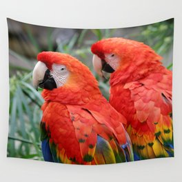Scarlet Macaws Wall Tapestry
