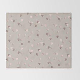 Elegant rose gold heart pattern Throw Blanket