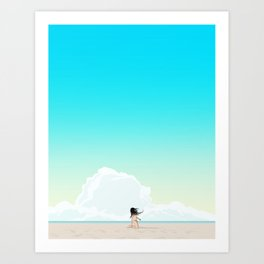 Beach Girl Art Print