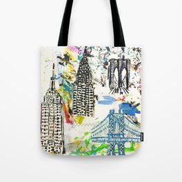 New York City Buildings Tote Bag